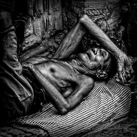 Cambodian Man Sleeping