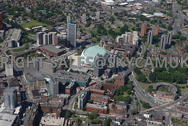 Leeds aerial photograph of the Merrion Centre and First Direct Arena Merrion Way