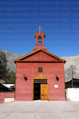 Virgen del Carmen church in village of Los Loros, Copiapó valley, Region III, Chile