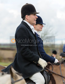 Roger Lee and Alexandra Mundy at the meet - The Cottesmore Hunt at Castle Bytham