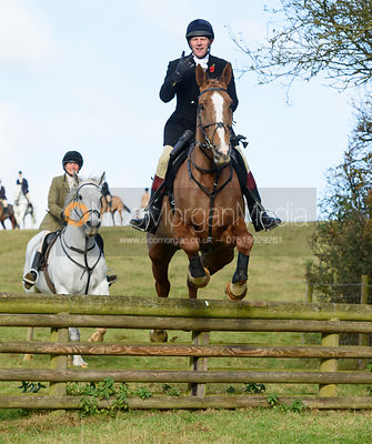 Adam Cooke jumping a hunt jump at Burrough House - The Cottesmore at Somerby 5/11