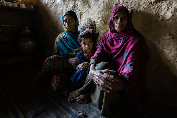 Portrait of a Gujar Family in their Traditional Home