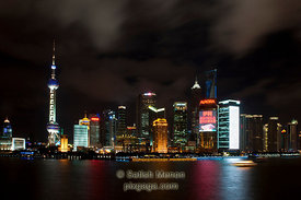 Shanghai Night Skyline, as seen from the Bund