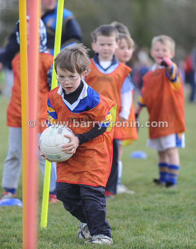 21st April, 2012. Castleknock GFC football nursery, Carpenterstown, Dublin. Pictured is one of the young members of the Castl...