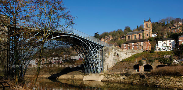 The Ironbridge in the Ironbridge Gorge, Telford, Shropshire, England.  Recognised as the birthplace of the Industrial Revolution.