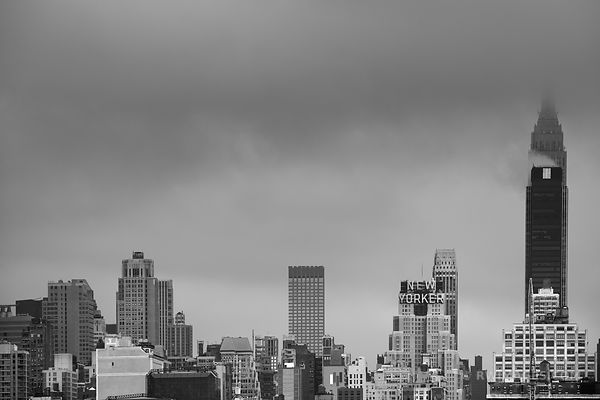 NEW YORKER MANHATTAN NEW YORK CITY BLACK AND WHITE