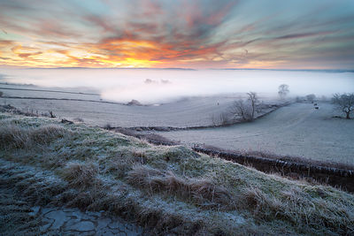 Sunrise inversion over Great Longstone