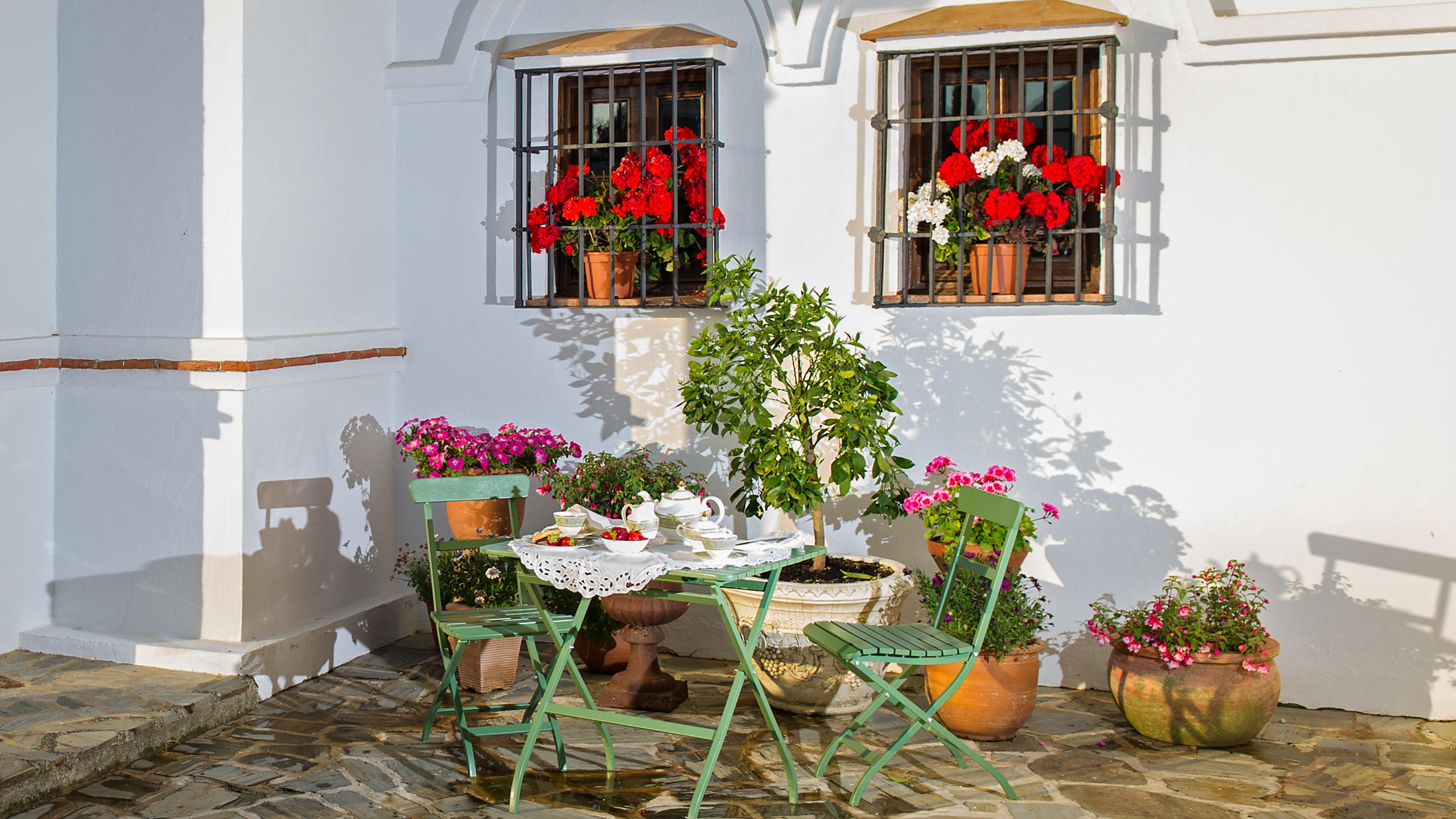 Luxury Villa Hotel Terrace in Andalucia, Spain