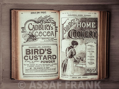 Old cookery book open