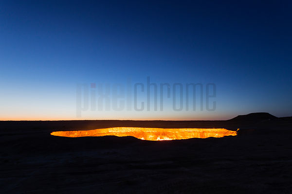 Darvaza Crater at Dawn