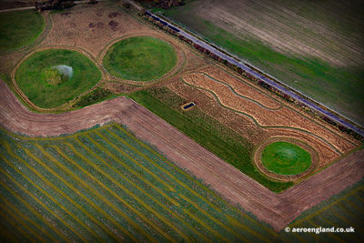 prehistoric Tumuli ( burial mounds ) at Amesbury Wiltshire England UK