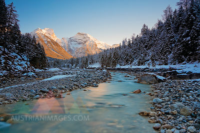 Austria, Tyrol, Eng, Karwendel mountains, Rissbach at Rissbach valley