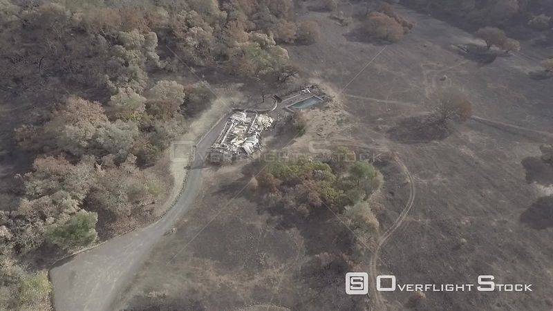 Sonoma County Wildfire Aftermath. South of Los Guilicos, Kenwood California