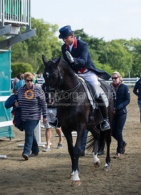 Olympic medallist Carl Hester and Uthopia prepare to perform their Grand Prix dressage test, National Championships 15/9/12
