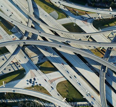 Aerial Photograph of the High Five Interchange in Dallas Texas