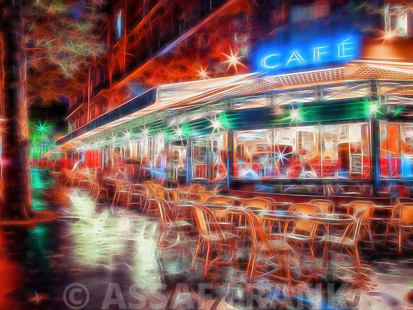 Sidewalk cafe in Paris, France