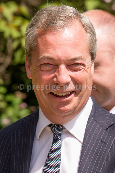 Politician Nigel Farage (founder of UKIP) in the Veterans Parade