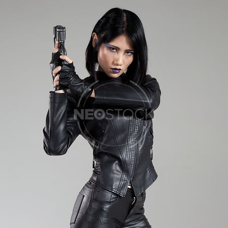 Yuu Cyberpunk Agent Stock Photography