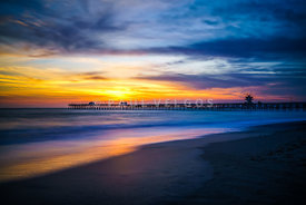 San Clemente Pier at Sunset Photo