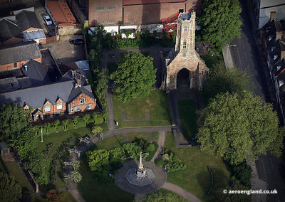 aerial photograph of Greyfriars Franciscan Friary, King's Lynn, Norfolk