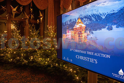 Charity Christmas  Tree Auction Badrutt's Palace Hotel St.Moritz