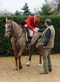 Michael Dungworth MFH and James Barclay - The Belvoir Hunt at Scalford Hall 16-11-13