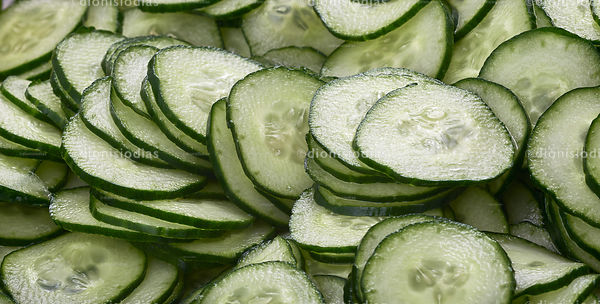 Slices of pickled cucumber Japanese  Sonomono