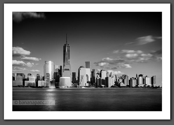 Manhattan skyline Black and White Print - BP4482BW