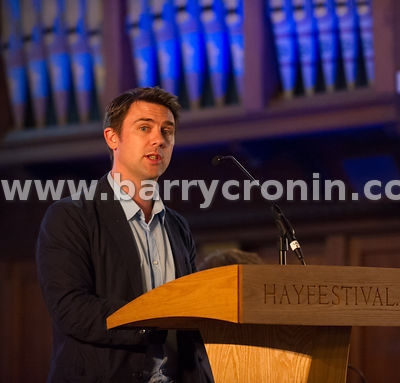 30th June, 2013. Kells Hay Festival, Kells, County Meath. Author Owen Sheers this year's Hay Festival International Fellow wh...