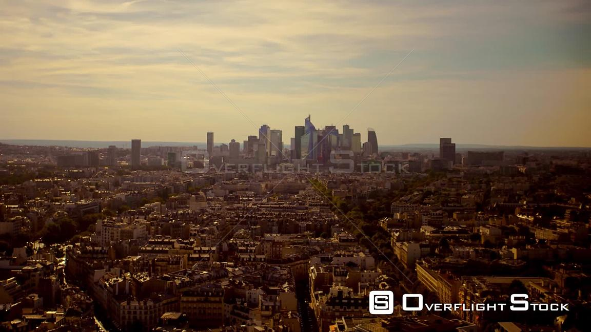 Puteaux Paris France TimeLapse Setting Sun