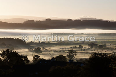 Early morning mist in the Lyth Valley, Cumbria, England