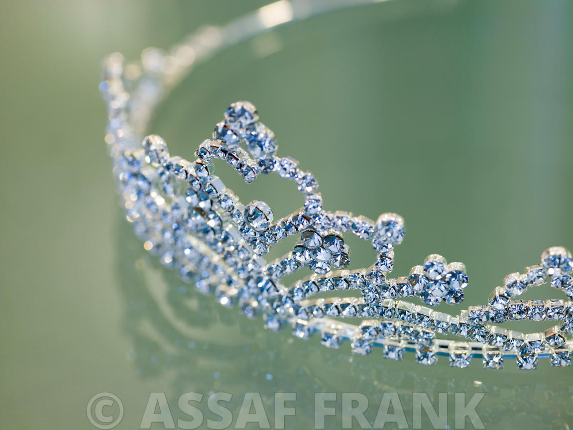 Close-up of Wedding Tiara