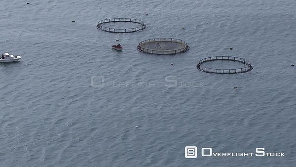 Fish farm in the ocean South Africa