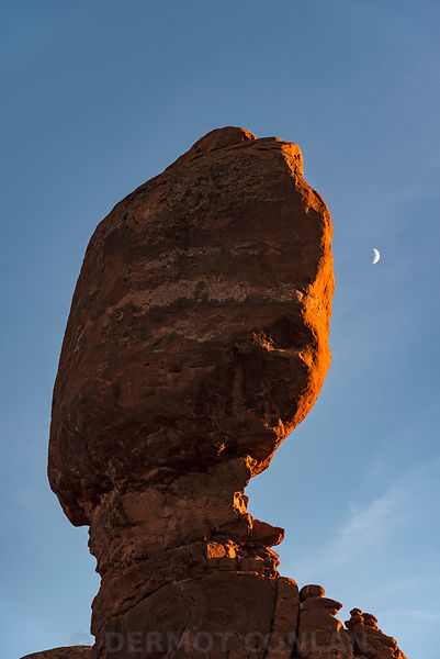 Balanced Rock and Moon