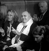 14th World Summit of Nobel Peace Laureates closing ceremony at the City Hall in Rome. Film Director Bernardo Bertolucci is aw...
