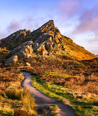 Ramshaw rocks at sunrise