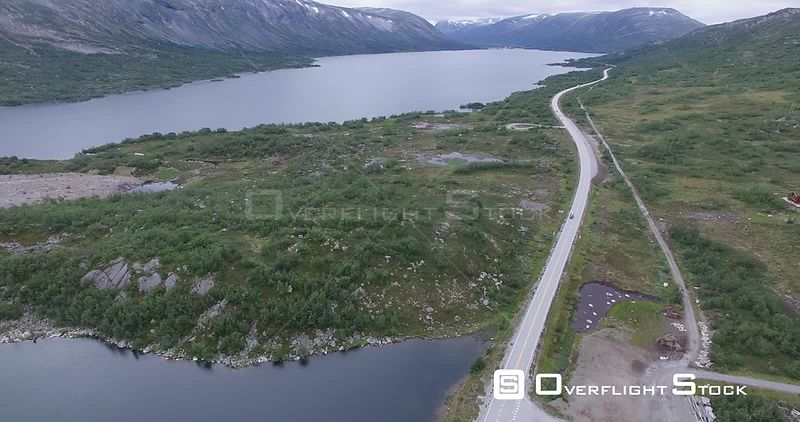 Scenic Mountain Highway Through Highland Pass Norway