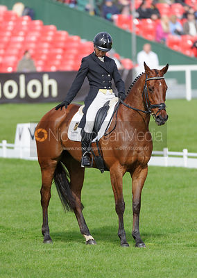 Sarah Ennis and SUGAR BROWN BABE - Dressage - Mitsubishi Motors Badminton Horse Trials 2013.