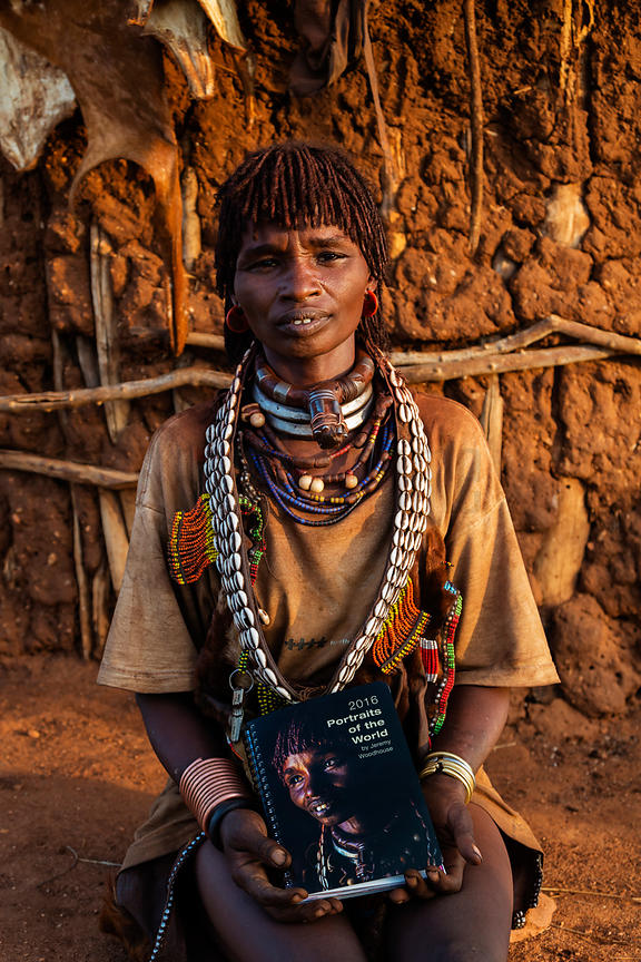 Portrait of a Hamar Woman with Day Planner