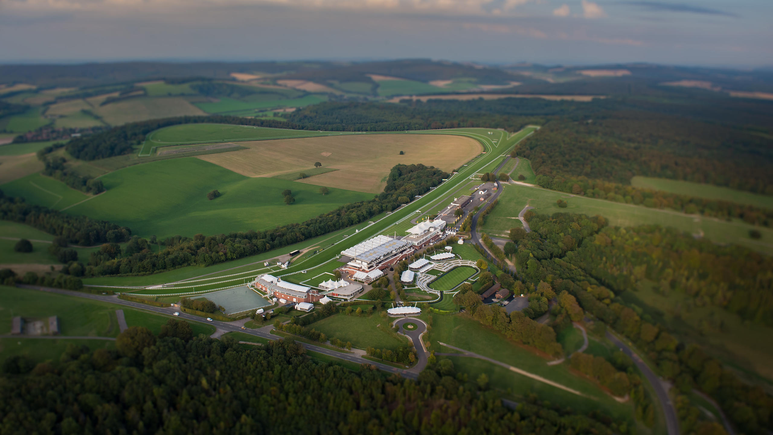 Aerial View of Goodwood Racecourse