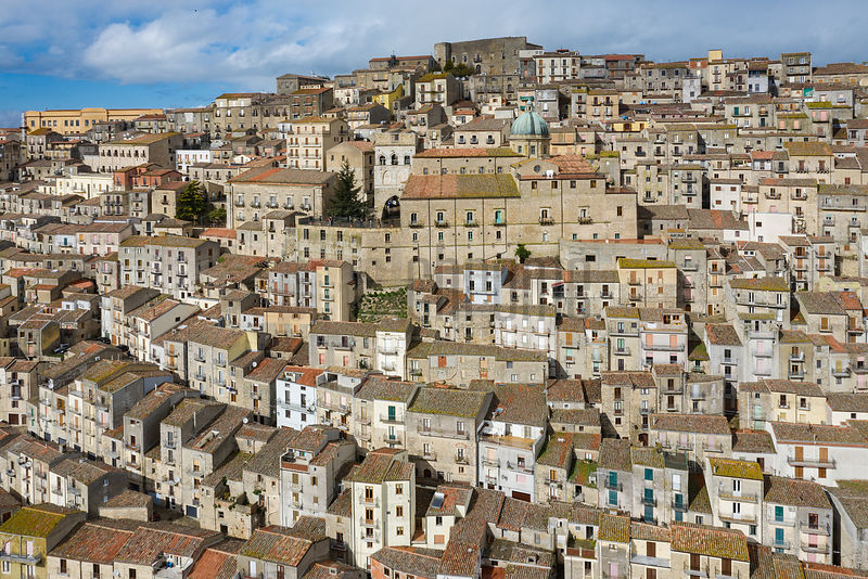Aerial View of Gangi and the Chiesa Madre