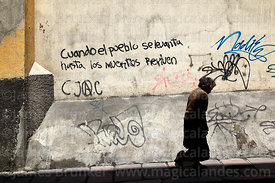 """When the people rise up, even the dead come to life"" graffiti on wall, La Paz, Bolivia"
