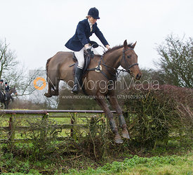 Zoe Gibson - Cottesmore Hunt at Deane Bank Farm 4/12/12