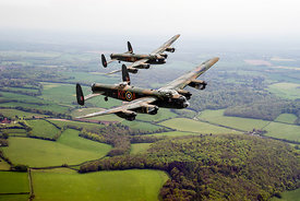 Two Lancs over Bucks