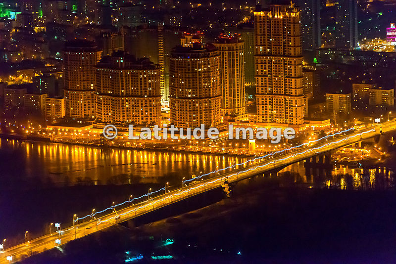 latitude image moscow russia alye parusa the scarlet sails residential estate and stroginsky bridge aerial photo 2