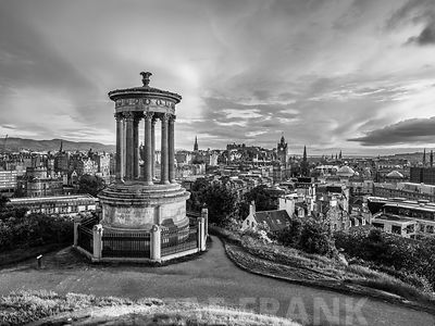A view from Carlton Hill, Edinburgh, Scotland
