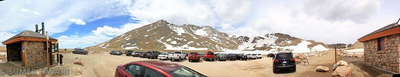 Mt Evans as seen from the summit lake parking lot