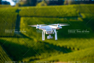 Utility drone over wineyard