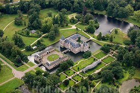 Delden - Luchtfoto kasteel Twickel 01