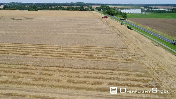 Combine harvester on a cornfield in Zapel in the state of Mecklenburg-Vorpommern, Germany